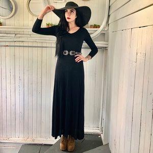 Black long sleeve maxi dress
